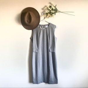 NWOT Calvin Klein Peplum Sheath Dress In Gray